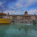 Trafalgar Square Fountain London 12 by Alex Art and Photo