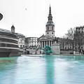 Trafalgar Square Fountain London 3 by Alex Art and Photo