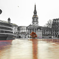 Trafalgar Square Fountain London 3b by Alex Art and Photo