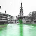 Trafalgar Square Fountain London 3f by Alex Art and Photo