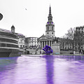 Trafalgar Square Fountain London 3g by Alex Art and Photo