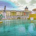 Trafalgar Square Fountain London 4 by Alex Art and Photo