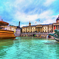Trafalgar Square Fountain London 5 Art by Alex Art and Photo