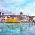 Trafalgar Square Fountain London 8 by Alex Art and Photo