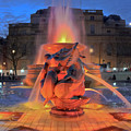 Trafalgar Square Fountain by Terri Waters
