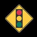 Traffic Light T-shirt by Herb Strobino