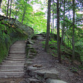 Trail At Old Man's Cave by Angela Murdock