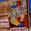 Trail West Mural by Susanne Van Hulst