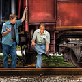 Train - Yard - Shoot'in The Breeze by Mike Savad