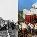 Train - Accident - Butting Heads 1922 - Side By Side by Mike Savad