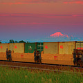 Train And Mount Baker by Paul Kloschinsky