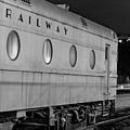 Train Car, Black And White by Steven Jones