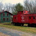 Train - Erie Rr Line Caboose by Paul Ward