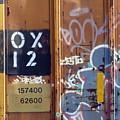 Train Graffiti 1 by Anita Burgermeister
