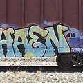 Train Graffiti 3 by Anita Burgermeister