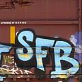 Train Graffiti 4 by Anita Burgermeister