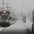 Train In Helsinki by Margaret Brooks
