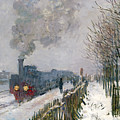 Train In The Snow Or The Locomotive by Claude Monet