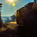 Train On Track In Birmingham Alabama by Michael Thomas