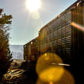 Train On Track V2 In Birmingham Alabama by Michael Thomas