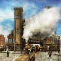 Train Station - Boston And Maine Railroad Depot 1910 by Mike Savad