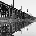 Train Track Reflections by Aaron Dishner