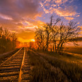 Train Track Sunrise by Brian Stevens
