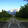 Train Tracks Anchorage Alaska by Anthony Jones