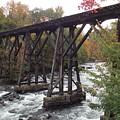 Train Tracks Over The Winnipesaukee River by Catherine Gagne