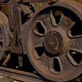 Train Wheels At Eckley Village by Bob Hahn