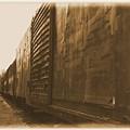 Trains 12 Albumen Border by Jay Mann