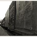 Trains 12 Platinum Border by Jay Mann