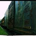 Trains 12 Cross Process Border by Jay Mann