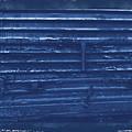Trains 13 Cyanotype Border by Jay Mann