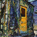 Trains Box Car Yellow Door Pa 04 by Thomas Woolworth