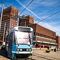Tram In Front Of Oslo City Hall by Leonardo Patrizi