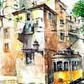 Tram In Lisboa by Georgi Charaka