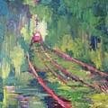 Pink Tram by Nelya Pinchuk