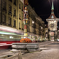 Tram Rushes In The Street Of Bern by Didier Marti