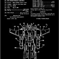 Transformers Patent - Black And White by Finlay McNevin
