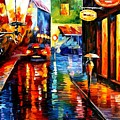 Trapped Inside Blue Rain by Leonid Afremov