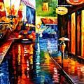 Trapped Inside Blue Rain by Leonid Afremov