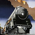 Travel Canadian Pacific Across Canada - Steam Engine Train - Retro Travel Poster - Vintage Poster by Studio Grafiikka