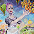 Travel Log 13  Finding Plethora Oil Painting by Ginette Callaway