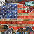 Travel The Usa One Plate At A Time License Plate Art By Design Turnpike by Design Turnpike