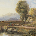 Travelers In A Welsh Landscape by Celestial Images