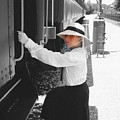 Traveling By Train - Black And White Focal by Cindy New
