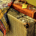Traveling Vintage Bags Blanket And Snow by Julie Palencia