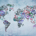 Traveler World Map by Delphimages Photo Creations