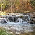 Travertine Creek Waterfall by Sheila Brown